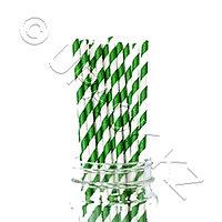 Россия Трубочка d0,6x19,5см бумажная 250шт/уп зелено-белая