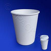 Россия Стакан бумажный 250мл для горячих напитков белый 50 шт/уп