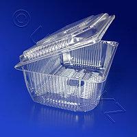 Kazakhstan Контейнер пластиковый 2000мл PS прозрачный с нераздельной крышкой 20,5x13,5x7,5см 250 шт/кор КТ-4Б/1
