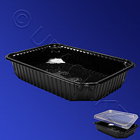 Kazakhstan Контейнер пластиковый 500мл PP черный 18х13х3,5см