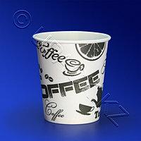 Виридо Стакан бумажный 185мл для горячих напитков 60 шт/уп Черный кофе d 7 3