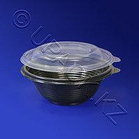 Kazakhstan Тарелка одноразовая глубокая PP d14см 350мл черная 540шт/уп ПР-МС-350