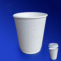 Виридо Стакан бумажный 250мл двухслойный белый 30 шт/уп
