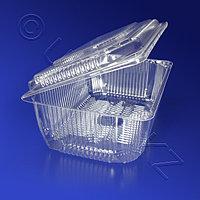 Kazakhstan Контейнер пластиковый 2000мл PS прозрачный с нераздельной крышкой 20,5x13,5x7,5см 150 шт/кор ИП-4Б