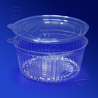 Kazakhstan Контейнер пластиковый 500мл PS прозрачный d13,2х5,5см 500 шт/кор КС-500 А