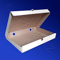 Россия Пицца-коробка гофра 33х23х4см 50шт/уп белая