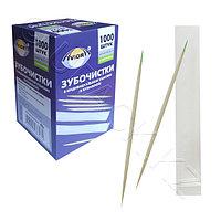 Россия Зубочистки с мятой отдельно упакованные бум бамбук 1000шт/уп