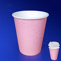 Виридо Стакан бумажный 250мл для горячих напитков пудра 50 шт/уп