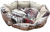 33610 Лежак с бортиком Сказка (флок) Лондон, размер: 52х52х15