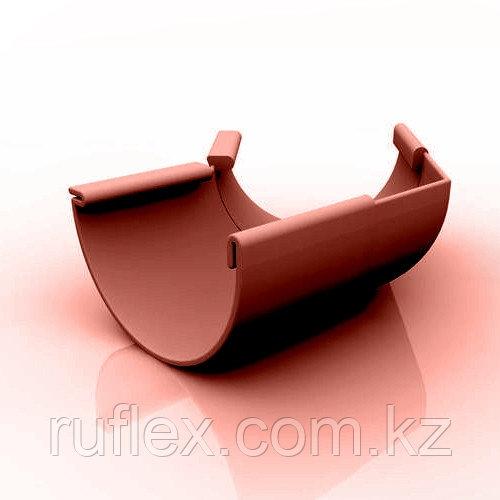 Угол наружный (внутренний) 45 град. для желоба d=125 мм, RUPLAST (коричневый)   тел./watsapp +7 701 100 08 59