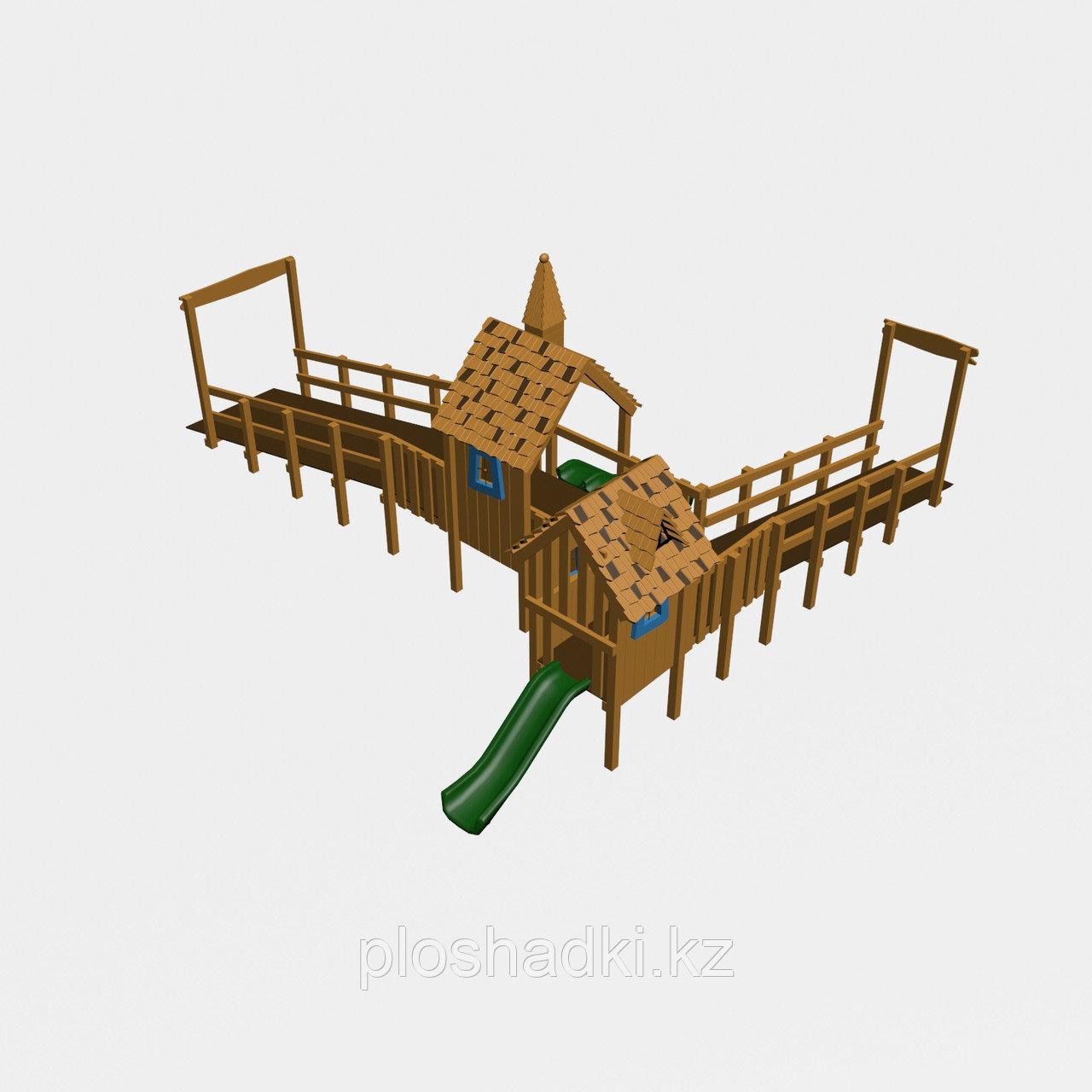 """Игровой комплекс """"Тироль 2"""", трап, скаты, крыша"""