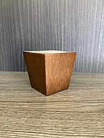 Ножка мебельная, деревянная, пирамида 8 cm