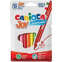 """Фломастеры Carioca """"Joy"""", 10цв., смываемые, картон, европодвес"""
