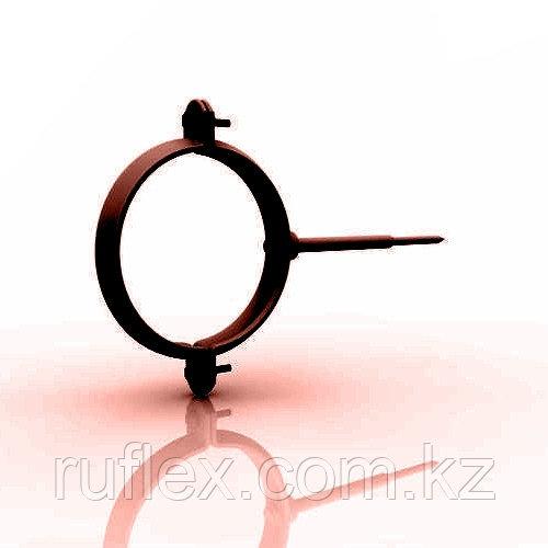 Хомут металлический. d=90 мм, RUPLAST (коричневый)   тел./watsapp +7 701 100 08 59