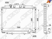 Радиатор MITSUBISHI DELICA L300 4D56 89-99 DIESEL /HYUNDAI H100 /PORTER /GRACE 94-
