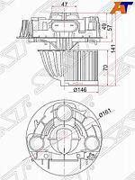 Мотор отопителя салона RENAULT LOGAN 05- /DUSTER 10- /SANDERO 08- /LADA LARGUS 12-W /O A /C