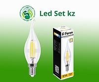 Лампа светодиодная диммируемая Feron LB-167 Свеча на ветру E14 7W 2700K 25872