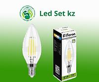 Лампа светодиодная диммируемая LB-166 Свеча E14 7W 4000K 25871