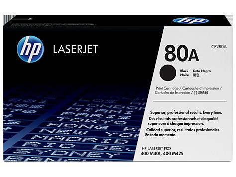 HP CF280A Картридж лазерный черный HP 80A для LaserJet Pro 400 M401/M425