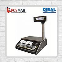 Весы с печатью этикеток Dibal W025T Alpha 6/15кг со стойкой, фото 1