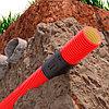 Двустенная труба Ø63мм ПНД гибкая для кабельной канализации с протяжкой, в бухте 50м, цвет красный