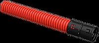 Ø40мм Двустенная ПНД Труба гофрированная, красная (50м) IEK