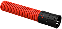 Ø63мм Двустенная ПНД Труба гофрированная, красная (50м) IEK