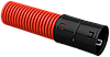 Ø90мм Двустенная ПНД Труба гофрированная, красная (50м) IEK