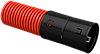 Ø110мм Двустенная ПНД Труба гофрированная, красная (50м) IEK
