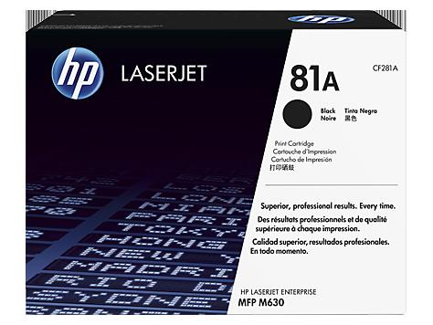 HP CF281A Картридж лазерный черный HP 81A для LaserJet Enterprise M604/M605/M606/M630 MFP