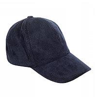 Бейсболка вельветовая, цвет тёмно-синий, размер 54-56