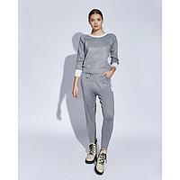 Костюм женский трикотажный MINAKU Jenna (свитшот, брюки), размер 52-54, цвет серый