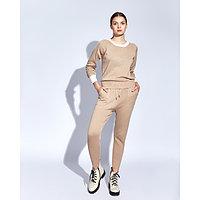 Костюм женский трикотажный MINAKU Jenna (свитшот, брюки), размер 52-54, цвет бежевый