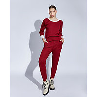 Костюм женский трикотажный MINAKU Jenna (свитшот, брюки), размер 52-54, цвет бордо
