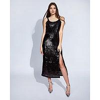 "Платье женское MINAKU ""Эстер"", размер 46, цвет чёрный"