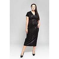 Платье женское MINAKU с люрексом, размер 50, цвет черный