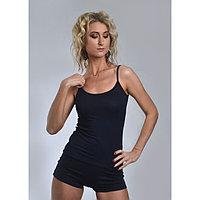 Пижама женская (майка, шорты) «НИКА», цвет тёмно-синий, размер 44