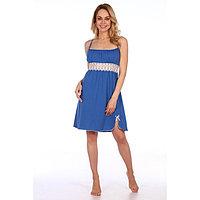 Сорочка женская, цвет синий, размер 46