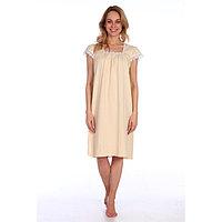 Сорочка женская, цвет молочный, размер 60