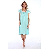 Сорочка женская, цвет бирюза микс, размер 54