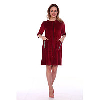 Халат женский на молнии NICE, цвет бордо, размер 50