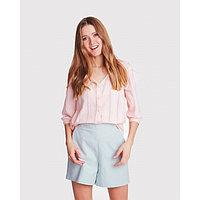 Блуза женская с V-вырезом MINAKU: Enjoy цвет розовый, р-р 48