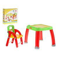 Набор детской мебели: стол для творчества со стулом