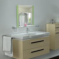 Зеркало в ванную комнату 80×60 см Ассоona A606, 1 полка