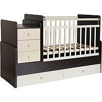 Детская кровать - трансформер «Фея 1100», цвет венге/бежевый