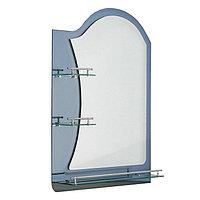 """Зеркало в ванную комнату, двухслойное, 80×60 см """"Ассоona A623"""", 3 полки, цвет сталь"""