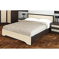 Кровать Модерн 1.4м, 960х1450х2030, Венге/Дуб молочный