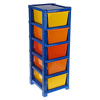 Система модульного хранения №16, 5 секций, цвет синий