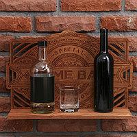 Полка под алкоголь Home bar, 45 × 32.5 × 10 см