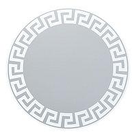Зеркало, настенное, с пескоструйной графикой, D=70 см